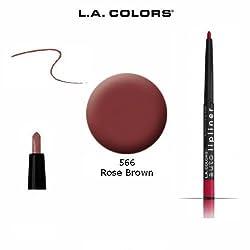 566 Rose Brown : 2-Pack L.A. Colors Auto Lip Liner Pencil Retractable 566 Rose Brown