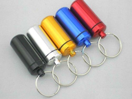 Pille Halter Schlüsselanhänger --luftdicht & Wasserdicht --Tabletten, Geld, Stash -, schwarz (Pille Sorter Box)