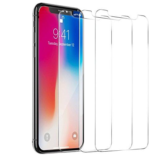 iPhone X Displayschutzfolie, ibarbe gehärtetem Glas Displayschutzfolie Applikator Rahmen/3D In Kompatibel/Ultra Klar/9H Härte/Anti-Fingerprint/blasenfrei für Apple iPhone X/10, 3-Endlessly iPhone X set predilection out off patroness
