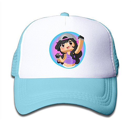 huseki-aphmau-youtube-fitted-kids-baseball-baseball-hat-skyblue