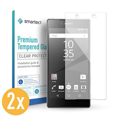 Smartect 2x pellicola in vetro temperato per sony xperia z5 tempered glass screen protector ultra-sottile 0,3mm | pellicola protettiva con durezza 9h