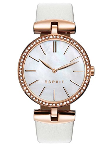 Esprit Damen Analog Quarz Uhr mit Leder Armband ES109112002