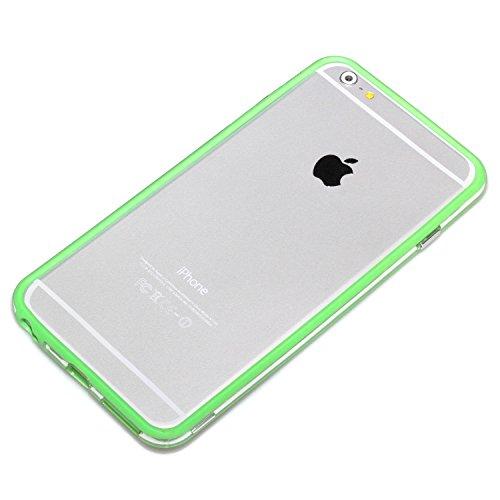 deinphone Apple iPhone 6Plus (5.5) Coque bumper Case Transparent Grün