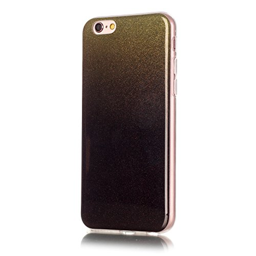 "OuDu iPhone 6 PLUS/6S PLUS (5.5"") Hülle, Glitzern Funkeln Hülle TPU Silicone Etui für iPhone 6 PLUS/6S PLUS (5.5"") Bling Glitter Case Sparkle Style Cover Soft Lightweight Bumper Flexible Schlanke Scha Schwarze"