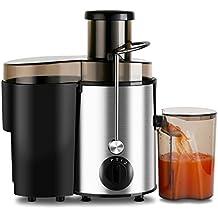 Aicok Extracteur de jus - 400W, disque de coupe en acier inoxydable, pour jus de fruits ou légumes, avec cruche de jus et brosse de nettoyage