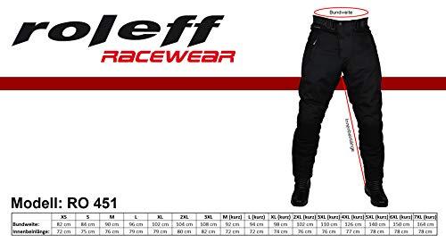 Pantaloni neri Da Motociclista Con Fodera Termica Removibile per estate e inverno Protezioni e larghezza regolabile