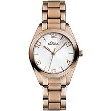 s.Oliver Damen-Armbanduhr Casual XS Analog Quarz Edelstahl SO-2492-MQ