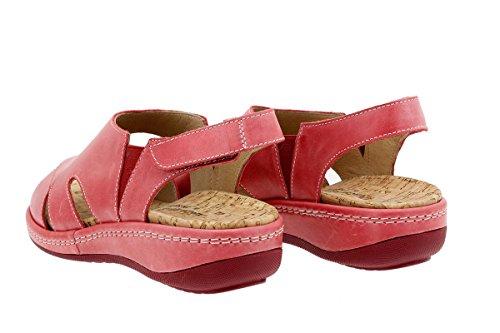 Scarpe donna comfort pelle PieSanto 1903 Sandali Plantare Estraibile larghezza speciale Rojo