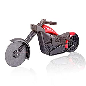 shuny-Motorrad-Pizzaschneider,Edelstahl-Pizzaschneider,Kunststoff-Motorrad-Ra...