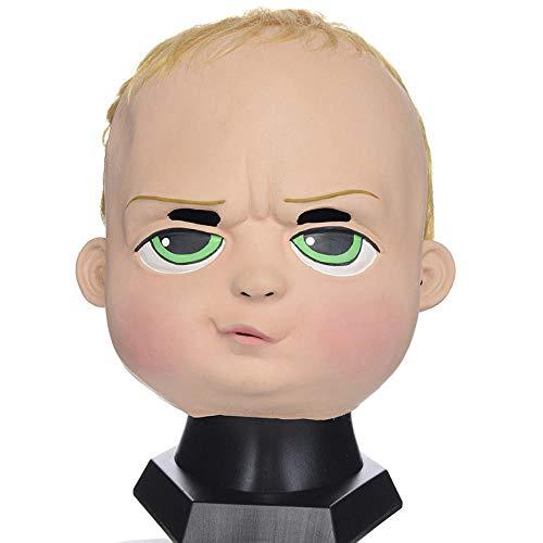 fcywai Halloween Mask,Niedlich Neugierig Doll Kreativ Neuheit Latex Masken Erwachsene Scary Kids Spaß Rave Kostüm Requisiten Partei Schutzmaßnahmen Airsoft Paintball Karneval - Scary Doll Halloween Kostüm