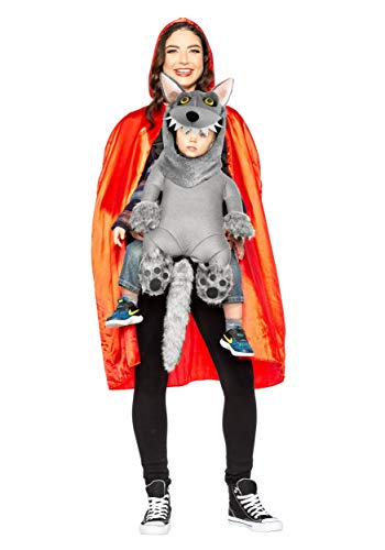 Kostüm Little Wolf Red Hood Riding - Red Riding Hood and Baby Wolf Fancy Dress Costume Standard