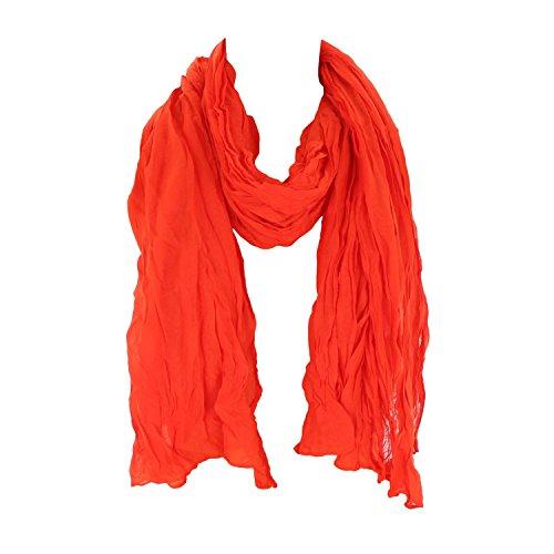 Leichter Damen Schal Nr. 374 viele Farben Orange