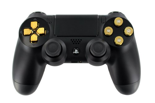 black-original-w-real-brass-9mm-bullet-buttons-gold-d-pad-ps4-custom