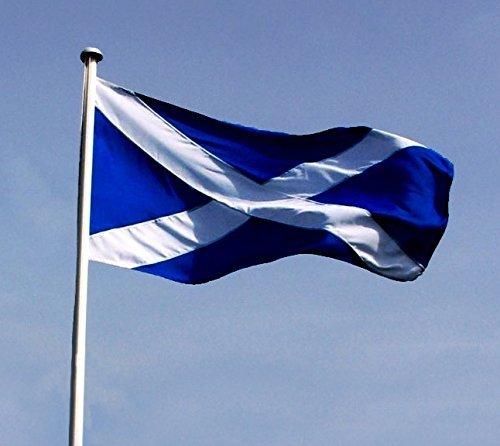 SCOTLAND-Bandiera nazionale, St. ANDREW'S croce, SCOTTISH SALTIRE bandiera INDEPENDENCE FLAG SNP di scozzese Alta qualità 0,91 Meters x 0,61 Meters (90 x 60 cm, ideale per piccole dimensioni ma HAND HELD volante - Andrews Croce