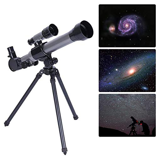 Aijin Teleskop Travel Scope, Teleskop für Kinder Anfänger Outdoor-Monokular-Teleskop und Stativ tragbares Kind HD-Simulationsteleskop mit Finder Star Toy 20-40 Mal
