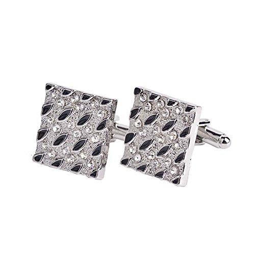 Hosaire 1 Paar Manschettenknöpfe Hemd Cufflinks Mode Persönlichkeit Silber Hochzeit Manschettenknopf Exquisite Zubehör
