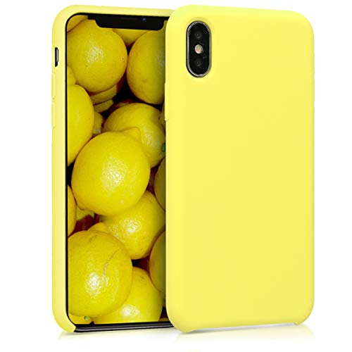 kwmobile Apple iPhone X Hülle - Handyhülle für Apple iPhone X - Handy Case in Pastellgelb