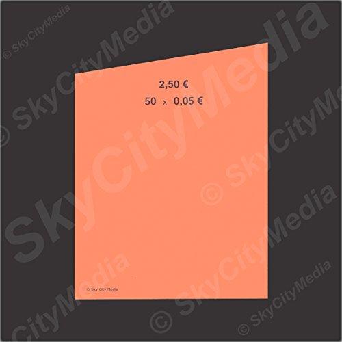 Münzrollpapier für Euro Münzen je 50x ( 0,05 € Papier) für Geldrollen / Rollgeld Münzrollenpapier / Handrollpapier / NEU