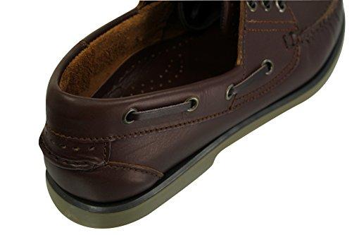 Herren Mokassin-Brett/Deck, Boat Shoes Leder mit Dek Braun