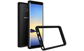 RhinoShield Bumper Case for GALAXY Note 8 [CrashGuard] | Shock Absorbent Slim Design Protective Cover - Compatible w/Wireless Charging [3.5M/11ft Drop Protection] - Black