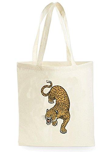 Uk Print King Leopard, Einkaufstasche fürs Einkaufen, Picknick, Zuhause, Lagerung und Schule, tote bag (Print Leopard Tote)
