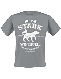 Game of Thrones House Stark Winter Direwolf T-shirt gris
