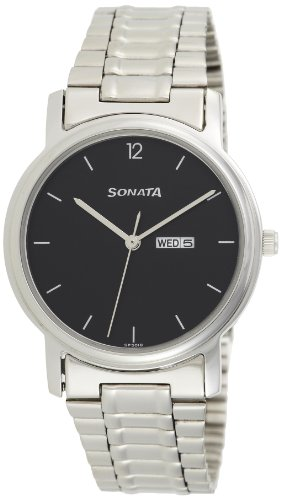Sonata Analog Black Dial Men's Watch - NC1013SM04 image
