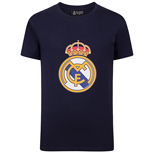 Real Madrid Official Football Gift Mens Crest T-Shirt