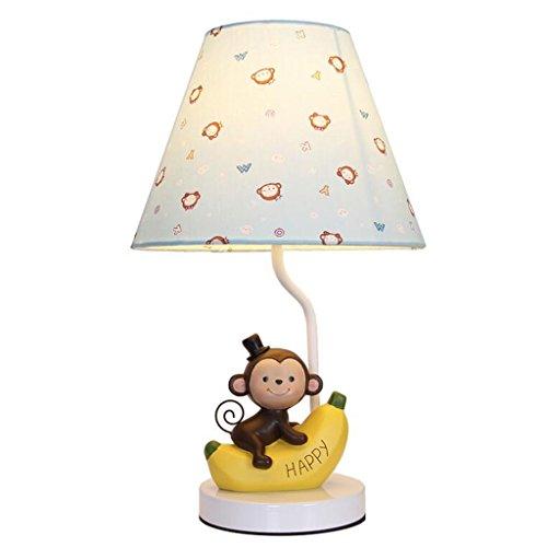LED-Schreibtisch-Lampe justierbare Eye-caring Tabellen-Lampen-Affe geformte Kind-Lampen-Tabellen-Lampe mit Gewebe-Schatten-Dekoration-Lampe justierbare Helligkeit, nettes Geschenk für Kinder, Blau (Nette Schreibtisch-abdeckung)