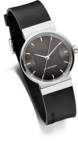 JACOB JENSEN Unisex-Armbanduhr Analog Quarz Kautschuk JACOB JENSEN NEW SERIES NO. 748