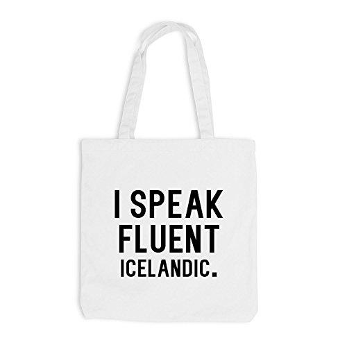 Bianca Jutebag Fluente Lingua Parlo Islandese xUWZgq0Y
