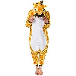 Win8Fong - Pijama de una pieza - para mujer multicolor jirafa