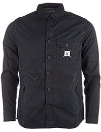 Chemise Fly53 avec boutons pour homme en noir