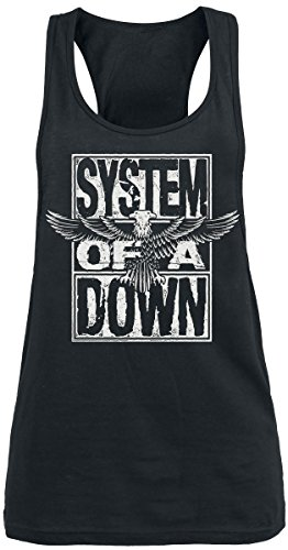 System Of A Down Stacked Eagle Top donna nero XL