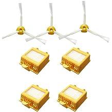 Techypro® Reposición filtros y Cepillo lateral para iRobot Roomba aspiradora serie 700 760 770 780 790-incluyen un conjunto de 6