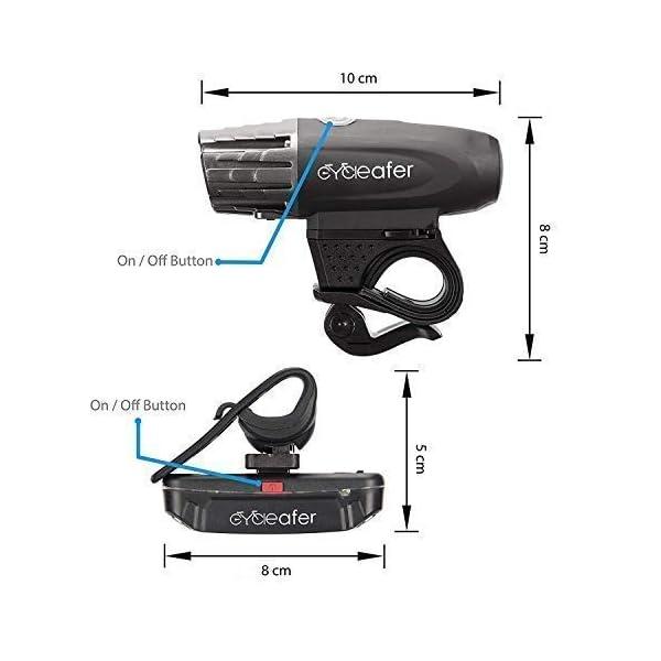 USB Rechargeable Bike Light Set Easy Install