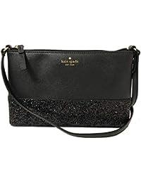 bc98d630c2eb Kate Spade Ramey Greta Court Glitter Saffiano Leather Crossbody Bag Black