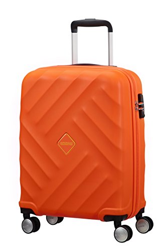 American Tourister Crystal Glow Spinner 55/20 TSA Bagaglio a Mano, Bright Orange, 33 ml, 55 cm