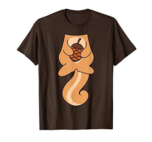 Eichhörnchen Nuss Kostüm Lustiges Halloween Geschenk T-Shirt
