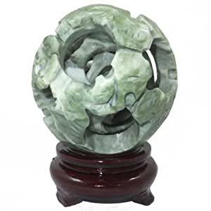 4 Layer Chinese Jade Puzzle Ball
