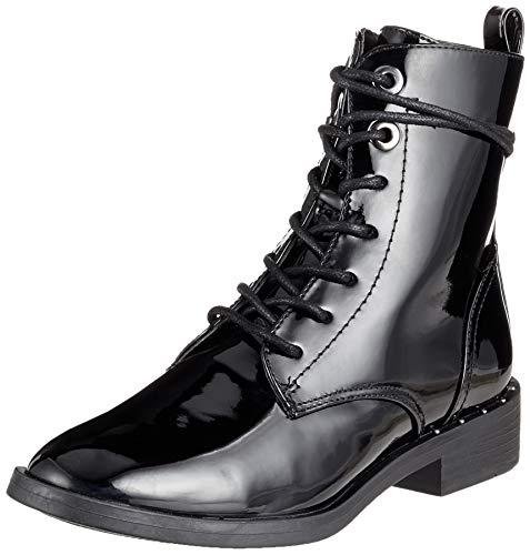 s.Oliver Damen 5-5-25102-21 018 Combat Boots, Schwarz (Black Patent 18), 39 EU