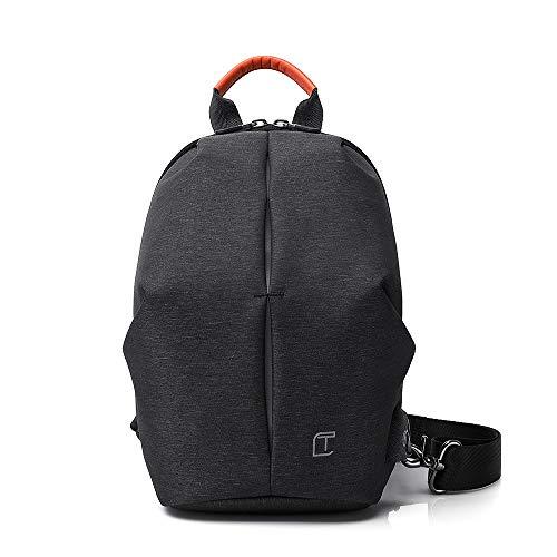 LCTCBB USB Anti-Theft Rucksack Crossbody Sling Bag Kleiner Mehrzweck-Daypack für Männer, Frauen (Farbe : SCHWARZ, größe : 30 * 19cm) Adidas Sling