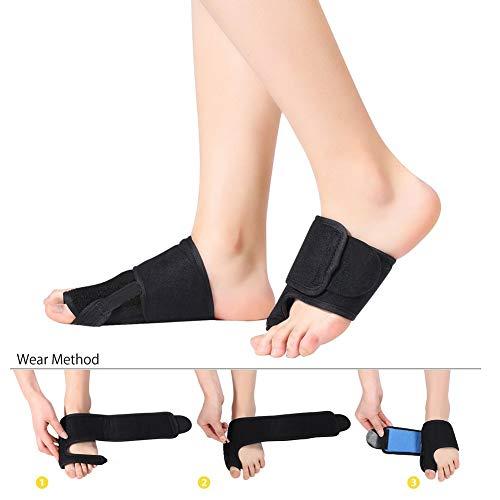 f5f1400821c6 LEPUPLL Bunion Corrector, Big Toe Splint Brace Separator für Hallux Valgus,  Turf Toe Schmerzlinderung Hallux Valgus, Flat Foot Schmerzlinderung für ...