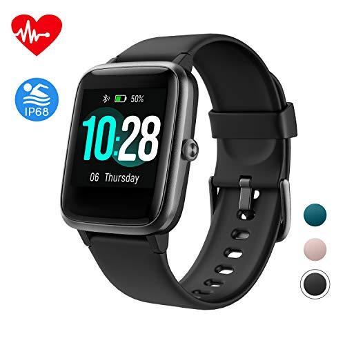 Fitpolo Gesundheit Fitness Uhr, Aktivitätstracker mit 1,3 \'\' Farbbildschirm, Pulsuhr, Schlafmonitor, Kalorienzähler,Schrittzähler Uhr, Wasserdicht Smart Watch für Damen Herren Kinder (schwarz)