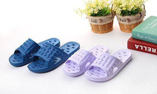 Moodeng Uomini e Donne Pantofole Antiscivolo Sandali da Bagno Massaggio Blu scuro