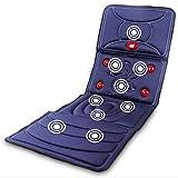 Massage Matratze, multifunktionales Massage Polster, Infrarot-Heizung Nacken Taille Massage Geräte Gesundheit neue Positionierung (blau)