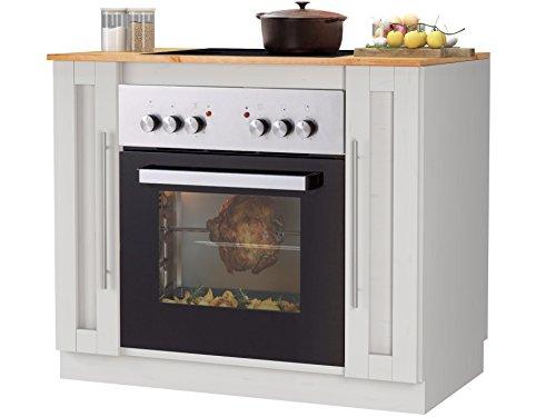 Loft24 Rita Umbauschrank Herdumbauschrank Küchenmöbel 100 x 60 x 85 cm Kiefer Massiv weiß/Honig