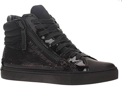 Crime London Stivaletto Donna Sneaker Alta Leather 2 Zip Black_38