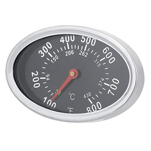 Edelstahl BBQ Smoker Grill Thermometer, Barbecue Pizza Thermometer Temperaturanzeige 430 ℃ 800 Auge -