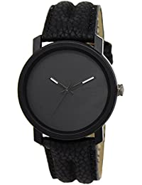 Snapcrowd New Attractive Stylish Latest White Thorns Black Dial Leather Strap Black Analog Watch For Men & Boys